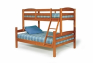 Woodcrest TF4100 Arched Twin/Full Bunk Bed with Slat Pack