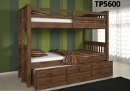 Woodcrest Triplex Chocolate Bunk Bed TP5600