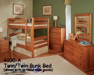 Woodcrest Twin Twin Arched Bunk Bed 4100