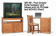 Woodcrest WE40 Woody Creek 4 Drawer Entertainment Unit