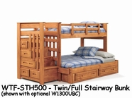 Woodcrest WTF-STH500 Woody Creek Twin/full Stairway Bed