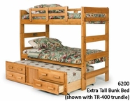 Woodcrest Youth Bedroom Extra Tall Twin Twin Bunk Bed 6200