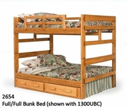 Woodcrest Youth Bedroom Full Full Bunk Bed 2654