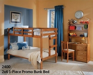 Woodcrest Youth Bedroom Twin Twin Bunk Bed 2400