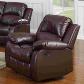 Yuan Tai 1070C-BRN Kaden Brown Bonded Leather Chair