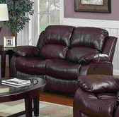 Yuan Tai 1070L-BRN Kaden Brown Bonded Leather Loveseat