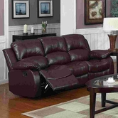 Yuan Tai 1070S-BRN Kaden Brown Bonded Leather Sofa