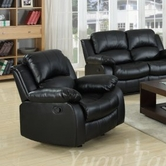 Yuan Tai 1075C-BLK Kaden Black Bonded Leather Chair
