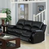 Yuan Tai 1075S-BLK Kaden Black Bonded Leather Sofa