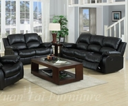 Yuan Tai 1075SL-2PC SET - Kaden Black Sofa & Loveseat
