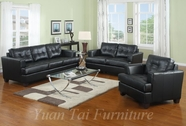 Yuan Tai 1081BLK-SET(3) Black Leather Set