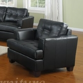 Yuan Tai 1081C-BK Caleb Black Chair