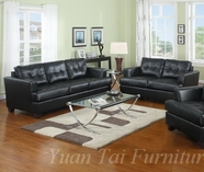 Yuan Tai 1081SL-SET(2) SET - Caleb Black Sofa & Loveseat