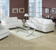 Yuan Tai 1082SL-SET(2) SET - Caleb White Sofa & Loveseat