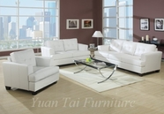 Yuan Tai 1082W-SET(3) SET - Caleb White Sofa 3 Pcs