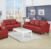 Yuan Tai 1083SL-SET(2) SET - Caleb Red Sofa & Loveseat