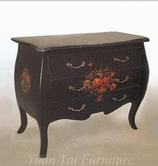 Yuan Tai 1751BK Lola Black Bombe Chest