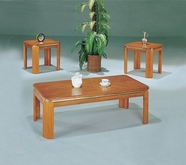 Yuan Tai 2701-2/SET(3) SET - Fluted Leg Oak 3 Pc Pack