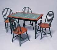 Yuan Tai 3058TGR(6912)-4 SET - Green Tile Table 5 Pc
