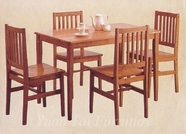 Yuan Tai 3574N-SET SET - Natural Table 5 Pc Pack