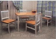 Yuan Tai 3574W-SET SET - White/Natural Farmhouse 5 Pc