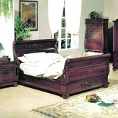 Yuan Tai 3832K Alexia Sleigh King Bed