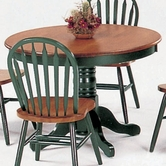 "Yuan Tai 4240T(GR) Farmhouse Green/Oak 42"" Round Table"