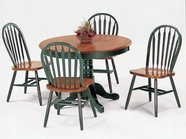 Yuan Tai 4240TGR(5377)-4 SET - Farmhouse Green Table 5 Pc