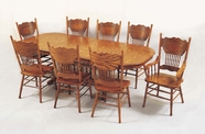 Yuan Tai 4296T-8123AS-8 SET Oak Table 9 Pc
