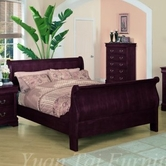 Yuan Tai 4702Q Louis Philippe Cherry Queen Bed