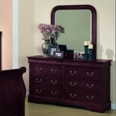 Yuan Tai 4706M/4707DR Louis Phillipe Mirror & Dresser