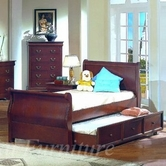 Yuan Tai 4768TWIN Louis Philippe Cherry Twin Bed