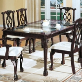 Yuan Tai 5169T(S) Chippendale Double Pedestal Table