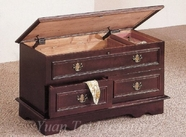 Yuan Tai 5497 Cedar Chest with Jewelry Tray, Cherry
