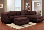 Yuan Tai 5770-CH Westwood Chocolate Sectional w/Ott