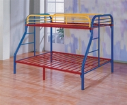 Yuan Tai 6345 Twin/Full Rainbow Bunkbed