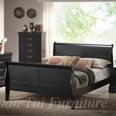 Yuan Tai 6702F-BK Louis Phillipe Black Full Bed