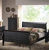Yuan Tai 6702K-BK Louis Phillipe Black King Bed