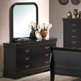 Yuan Tai 6707DR-BK Louis Phillipe Black Dresser