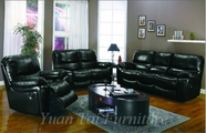 Yuan Tai 6822BK-SET(3) SET - Madison Black Sofa 3 Pcs