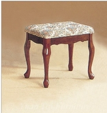 Yuan Tai 8006L Large Vanity Stool, Cherry