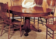 Yuan Tai 8123T Oak Sunburst Table