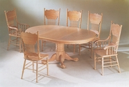 Yuan Tai 8124TW(AS)-6 SET - Whitewash Oak Table 7 Pcs Dining Set