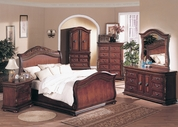 Yuan Tai 8530Q Florence Cherry Queen Bedroom set