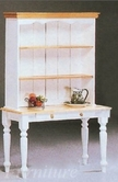Yuan Tai 8608W White/Natural Buffet & Hutch