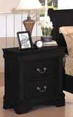 Yuan Tai 8803N-BK Louis Phillipe BLK NightStand