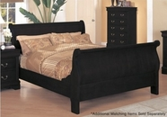 Yuan Tai 8880TWIN-BK Louis Phillipe Black Twin Bed
