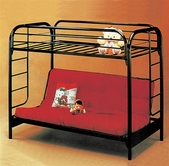 Yuan Tai 8986R Twin/Full Red Futon Bunkbed