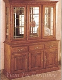 Yuan Tai 9001 Oak China Cabinet