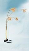 Yuan Tai 9074G Brass 4-Tulip Floor Lamp